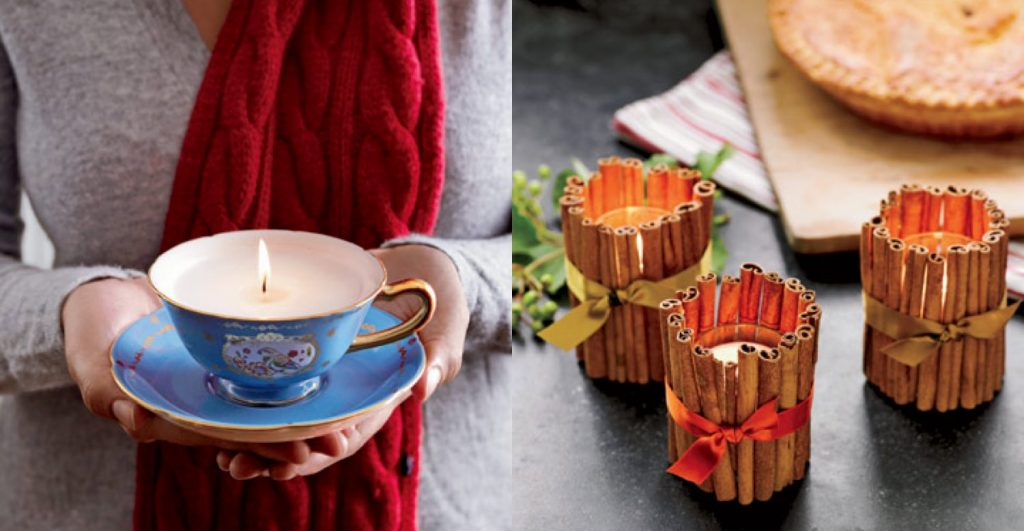 teacup cinammon candle
